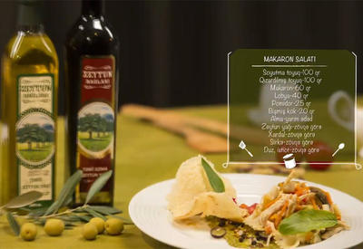 "Салат с макаронами и оливковым маслом <span class=""color_red""> - ВИДЕО (R)</span>"