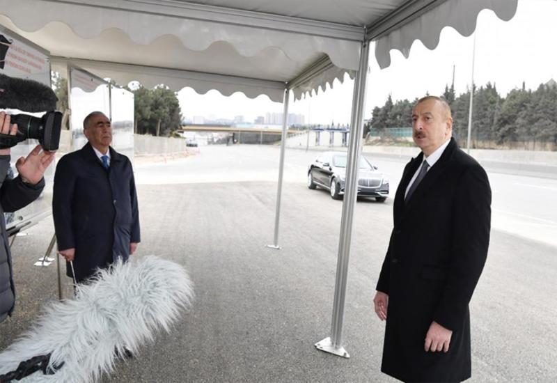 Президент Ильхам Алиев: Дорога Баку-Сумгайыт и все развязки должны быть сданы в эксплуатацию в течение примерно двух, максимум трех месяцев
