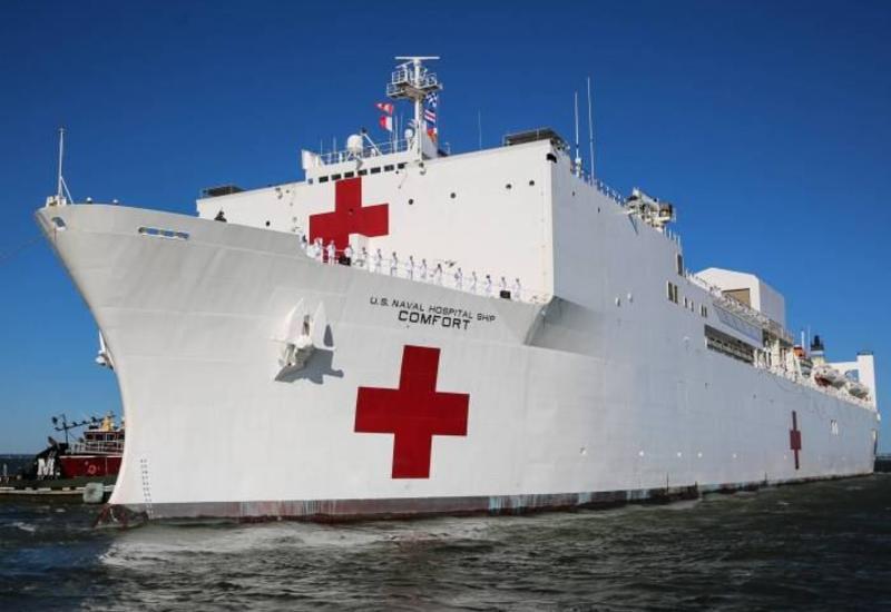 Плавучий госпиталь ВМС США начнет принимать пациентов в Нью-Йорке