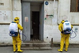 На Баилово продолжаются дезинфекционные работы в жилом районе