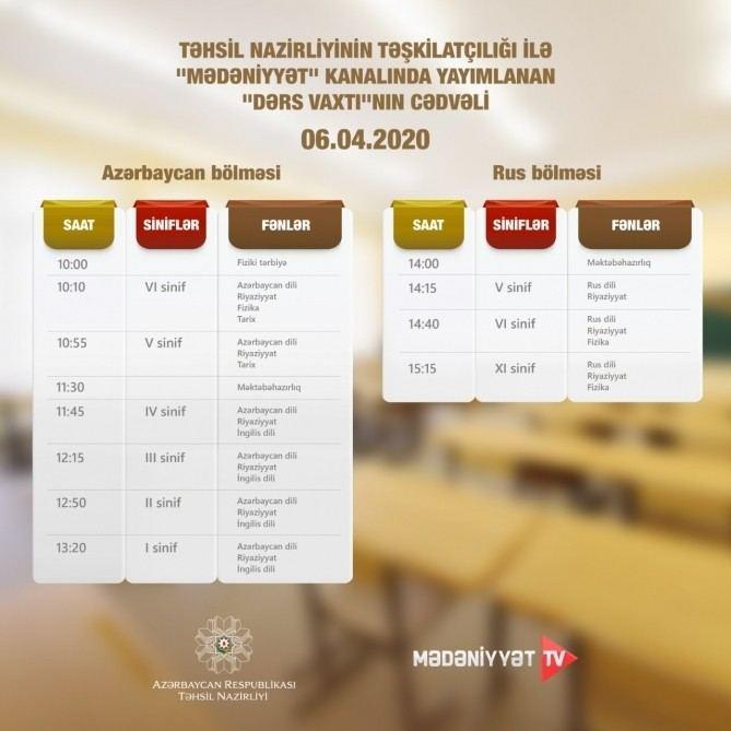 Опубликован график телеуроков по школьным предметам на 6 апреля