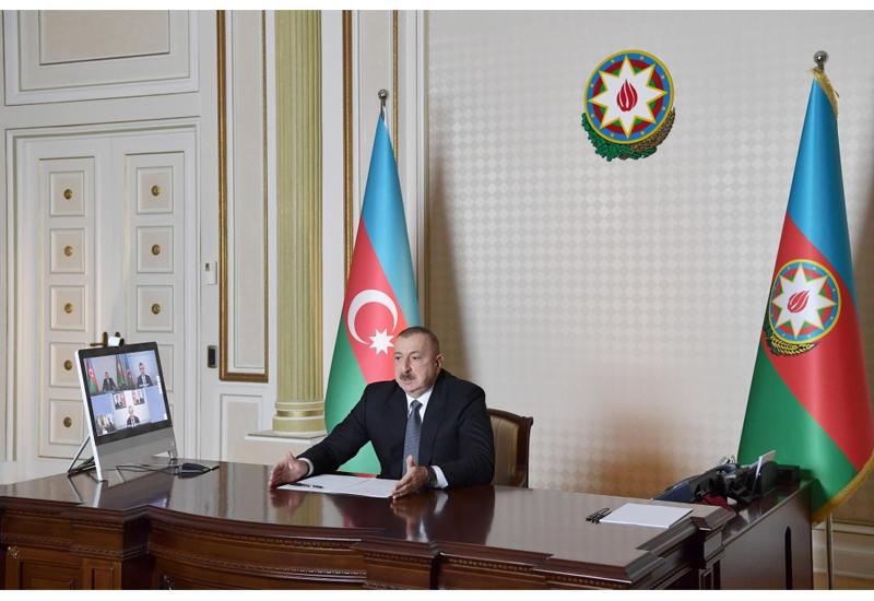 Prezident İlham Əliyev Əmək və Əhalinin Sosial Müdafiəsi və İqtisadiyyat  nazirlərinin iştirakı ilə videobağlantı formatında iclas keçirib