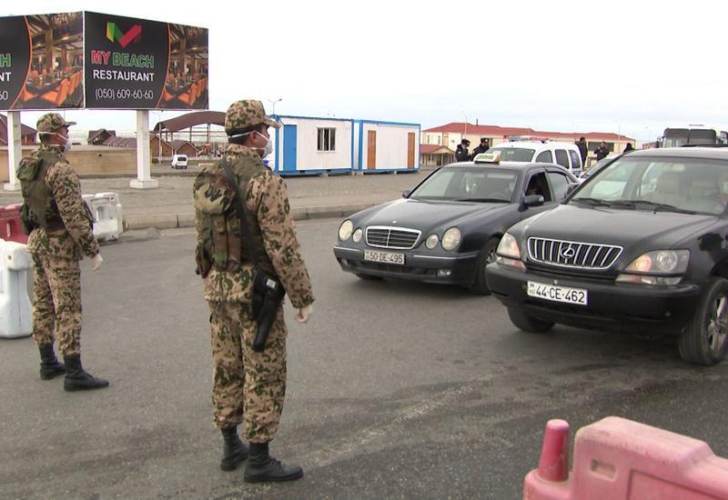 В Баку задержаны лица, пытавшиеся проехать в район в багажнике машины