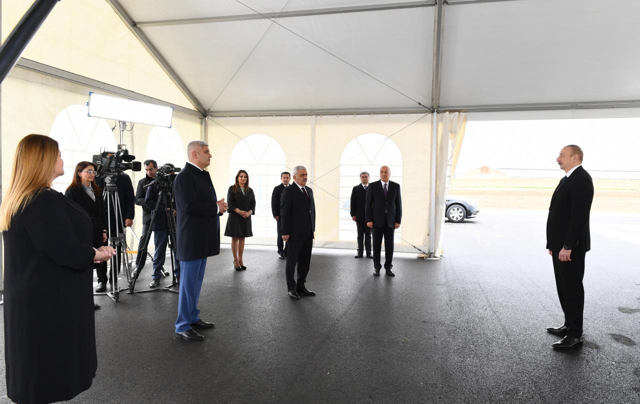 Prezident İlham Əliyev Sumqayıt şəhərinə çəkilən magistral qaz kəmərinin açılışında iştirak edib
