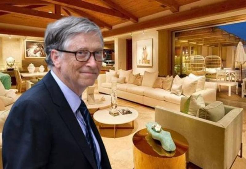 Bill Geytsin karantin günlərini keçirdiyi 43 milyonluq malikanəsi