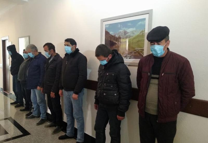 Qusarda karantin rejimini pozaraq qumar oynayanlar saxlanıldı