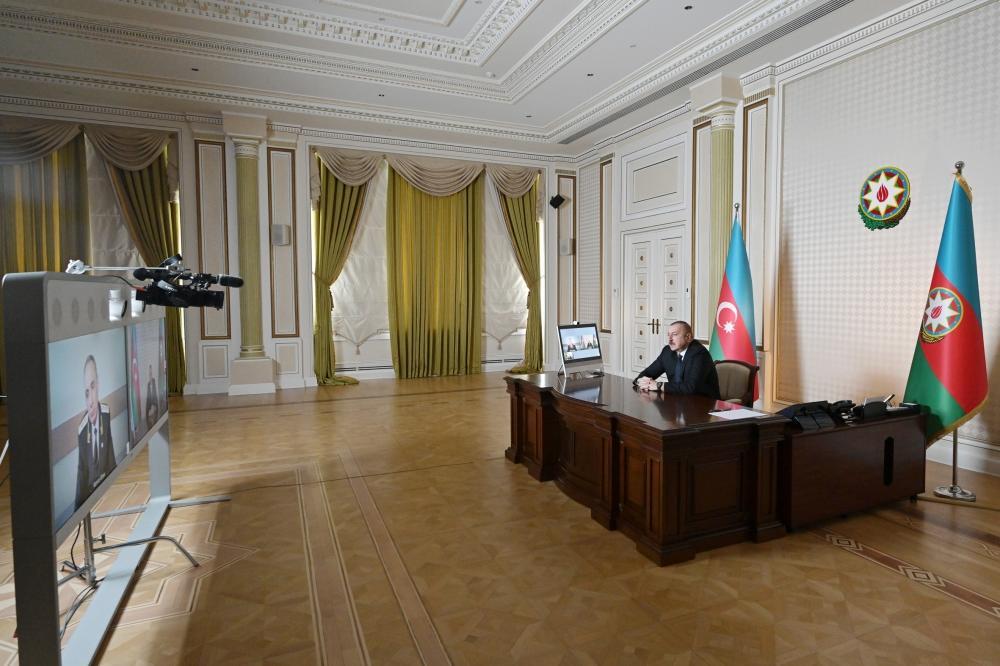 Azərbaycan Prezidenti İlham Əliyev Baş prokuror Kamran Əliyevi videoformatda qəbul edib