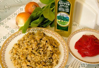 Рецепт рисового блюда из шпината (10 месяцев +) (R)