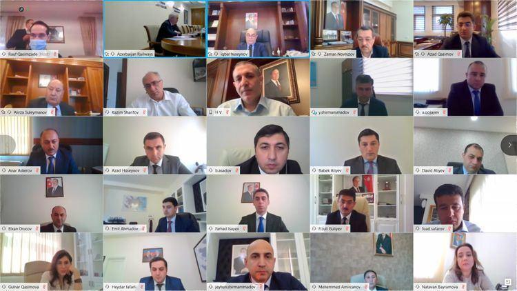 """""""Azərbaycan Dəmir Yolları"""" QSC-də videokonfrans şəklində kollegiya iclası keçirilib"""