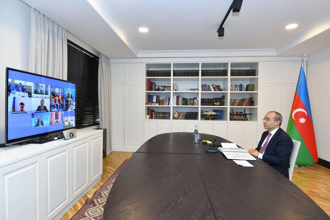 Mikayıl Cabbarov Türk Şurasının iqtisadiyyat nazirlərinin videokonfrans formatında görüşündə iştirak edib