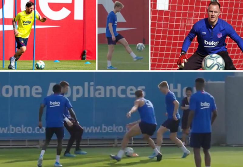 """Футболисты """"Барселоны"""" возобновили тренировки на клубной базе"""