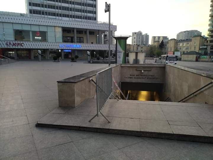 Бакинское метро после возобновления работы