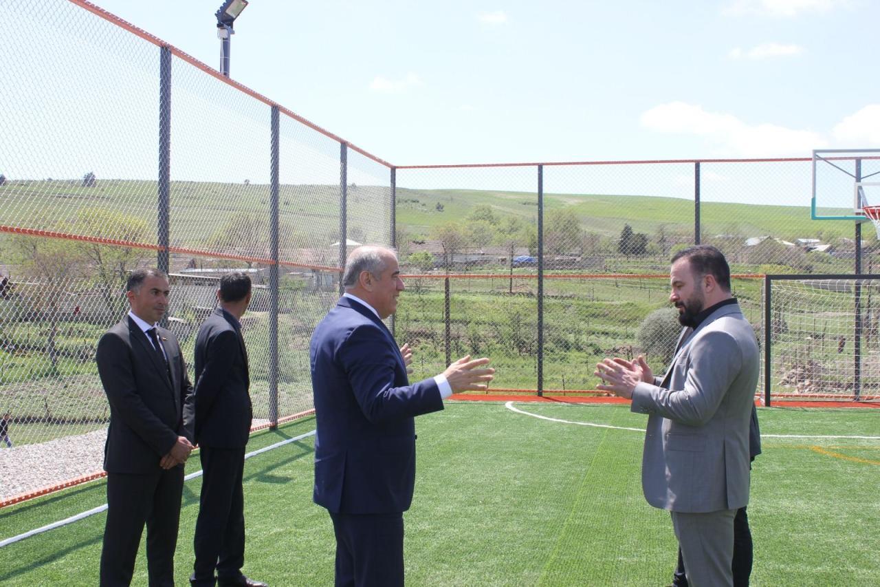 PAŞA Holding Xilmili kəndində futbol və basketbol meydançasının tikintisini maliyyələşdirib