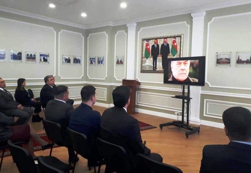 Minskdə Ulu Öndər Heydər Əliyevin xatirəsi anılıb