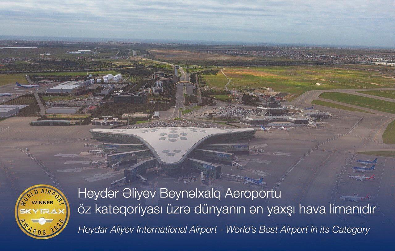 Heydər Əliyev Beynəlxalq Aeroportu – öz kateqoriyası üzrə dünyanın ən yaxşı hava limanıdır