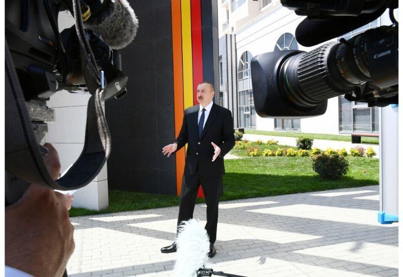 Президент Ильхам Алиев: Мы - ответственная страна, уважаем себя, сохраняем достоинство, уважаем партнеров