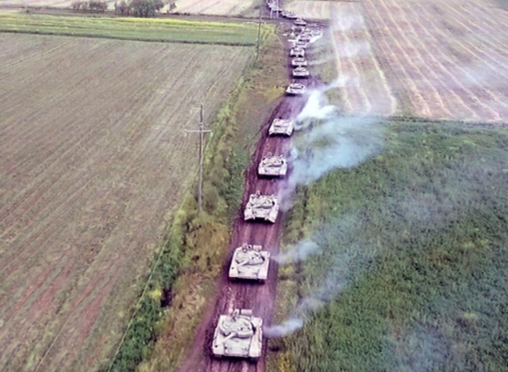 Азербайджанские танкисты отрабатывают огневую поддержку