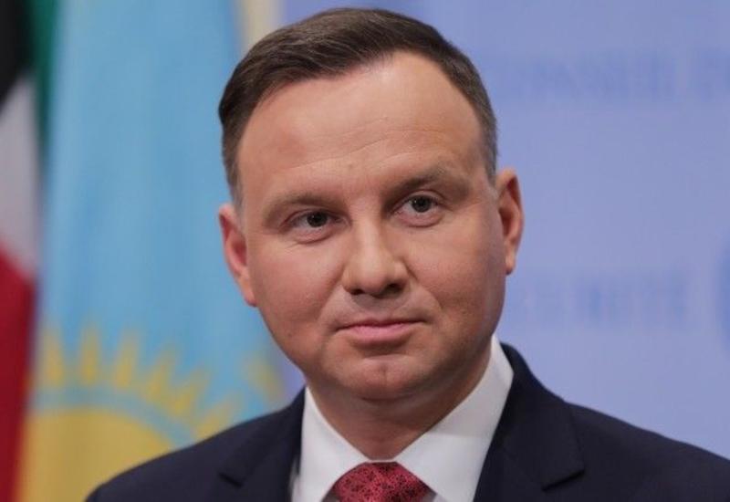 Президент Польши поздравил Президента Ильхама Алиева