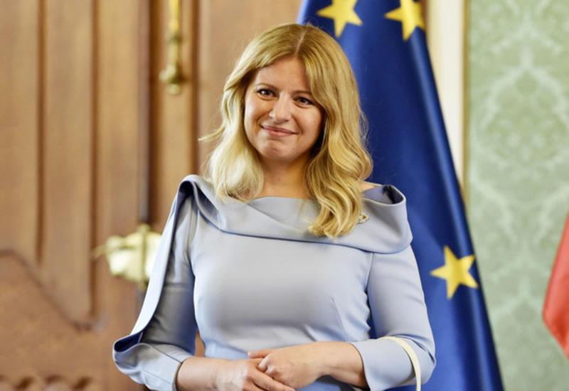 Президент Словакии поздравила Президента Ильхама Алиева