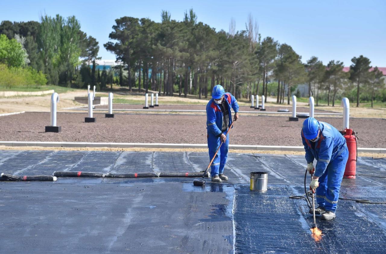 На Джейранбатанском водохранилище проводятся работы по реконструкции