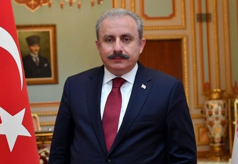 Председатель Великого национального собрания Турции поздравил Азербайджан