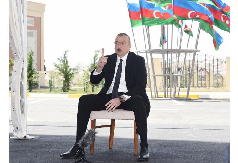 Президент Ильхам Алиев: После освобождения наших земель от оккупации мы построим на них прекрасные здания, городки, заново отстроим разрушенные армянами города