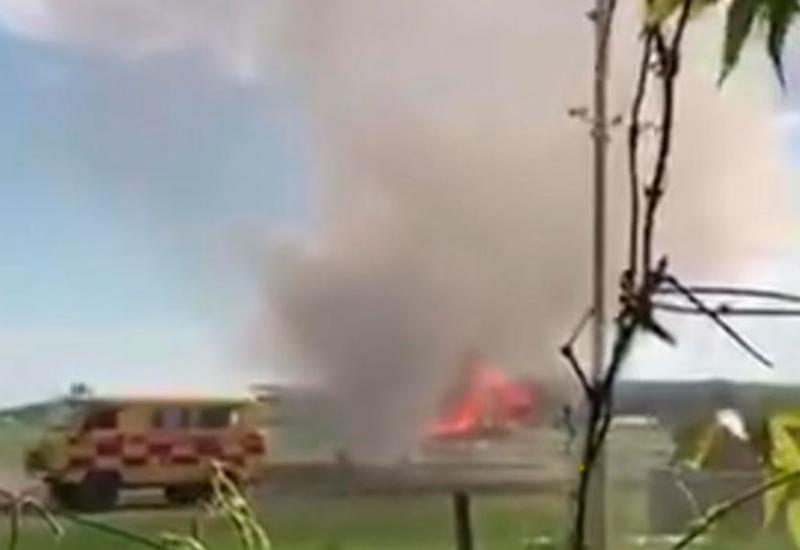 Самолет АН-2 загорелся после приземления в Казахстане