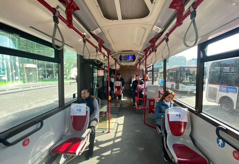В бакинские автобусы не будут пускать пассажиров без масок