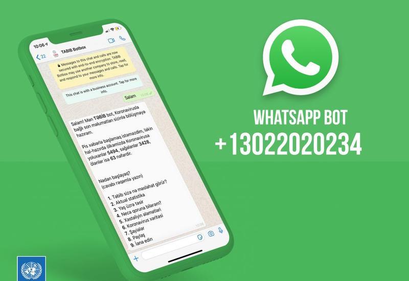 Полную информацию о COVİD-19 теперь можно получать в Whatsapp