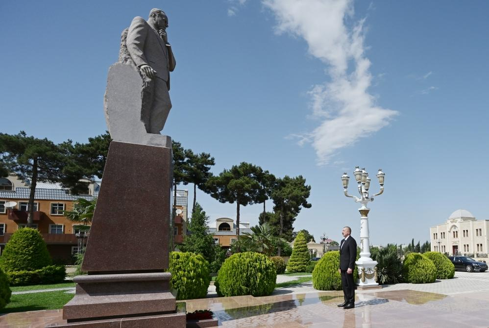 Президент Ильхам Алиев прибыл в Агджабединский район