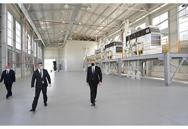В Агджабеди введен в строй завод по переработке семян зерновых культур