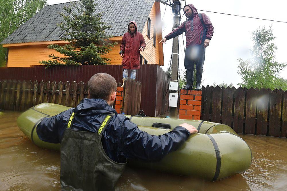 Кадры внезапного потопа в России