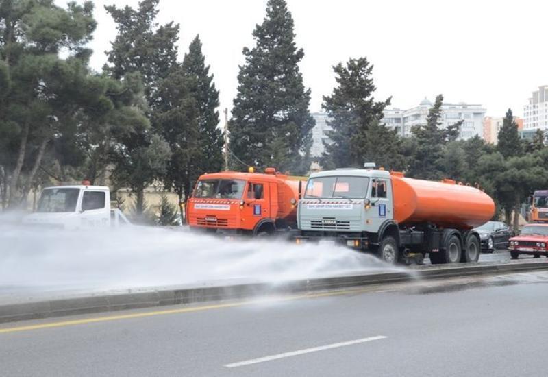 Усиленную дезинфекцию улиц и проспектов проведут завтра в Баку