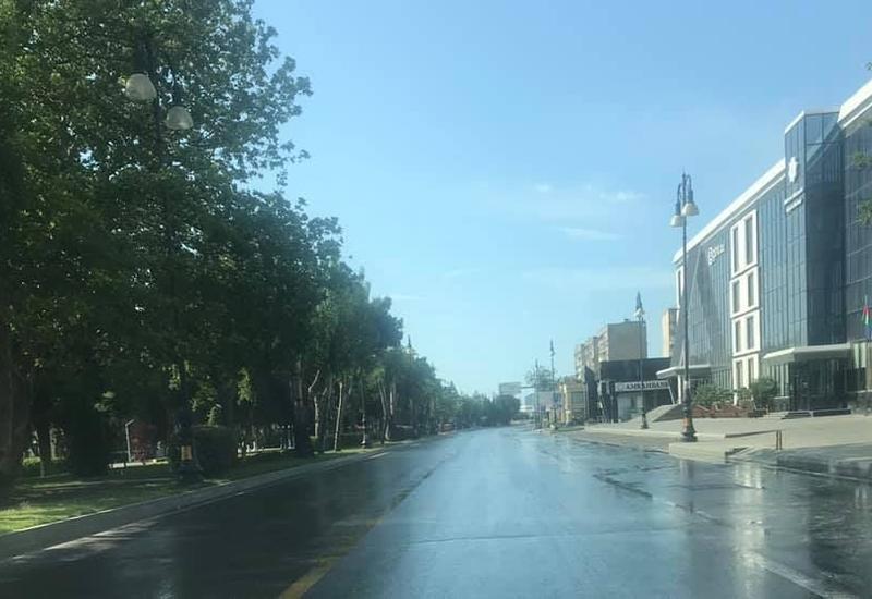 Опустевший Баку после запрета выходить из дома