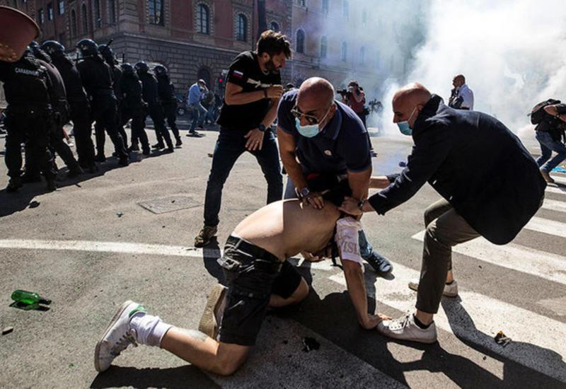 Демонстрация ультраправых в Риме завершилась потасовкой, есть задержанные
