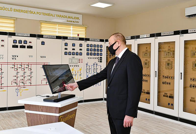 Президент Ильхам Алиев принял участие в открытии в Хатаинском районе Баку принадлежащей «Азерэнержи» подстанции «Ахмедли»