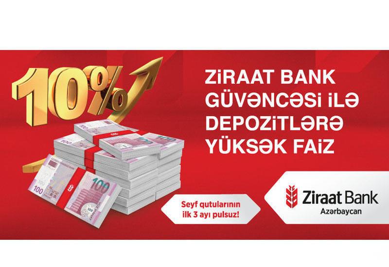 Ziraat Bank güvəncəsi ilə depozitlərə yüksək faiz (R)