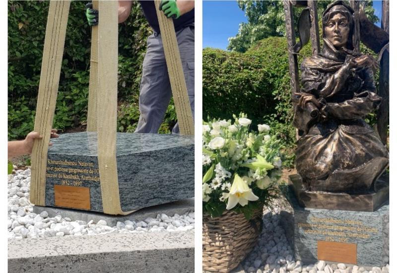 После акта вандализма в Бельгии восстановлен памятник Хуршидбану Натаван