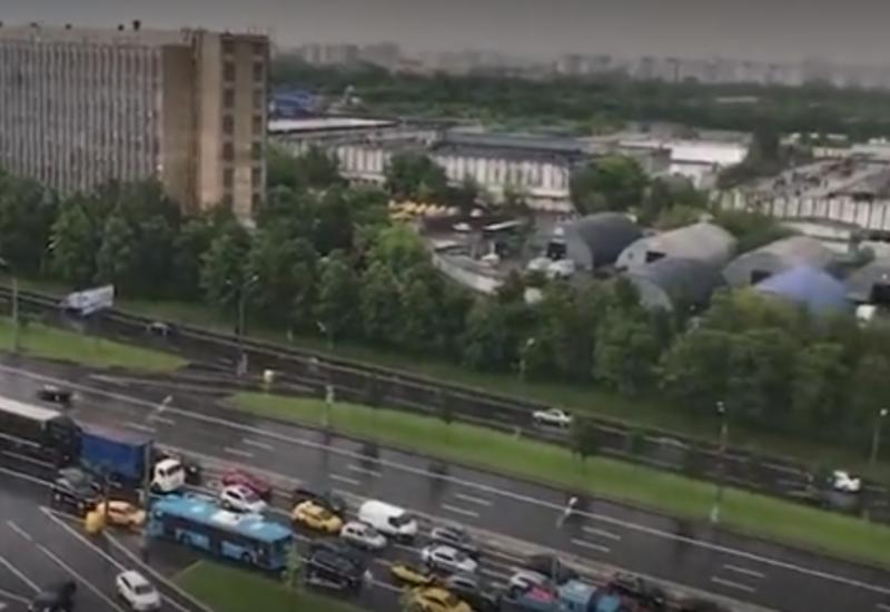 Москву затопило после ливня