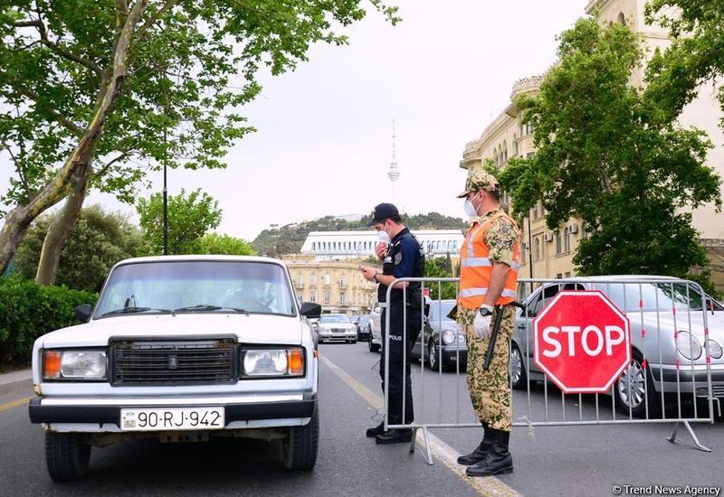 В Азербайджане с карантинных постов возвращены 750 автомобилей