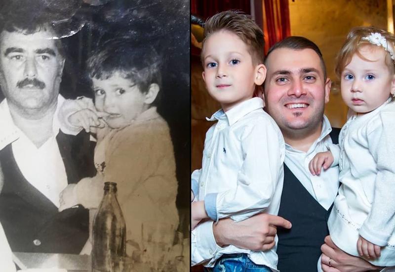 Мурад Ариф поделился трогательными семейными фото с отцом и детьми