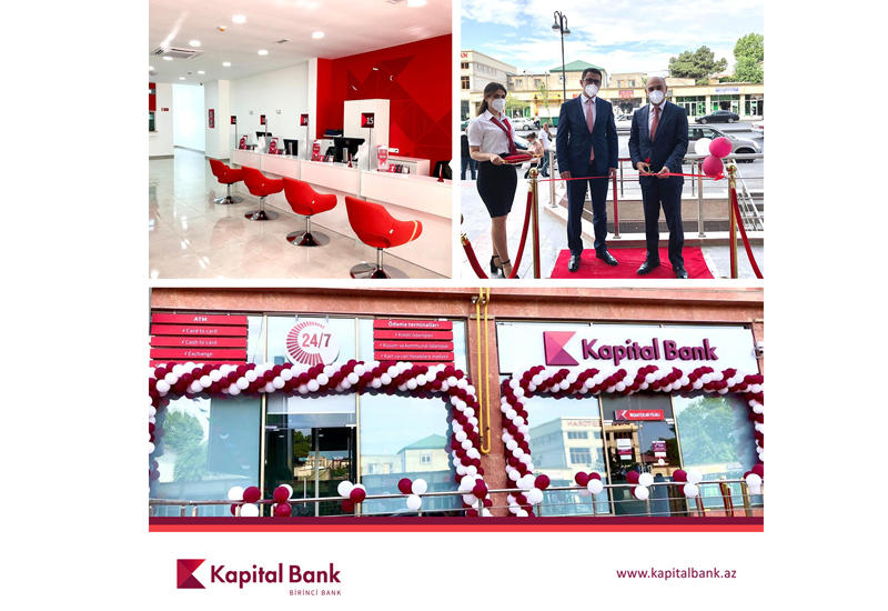 "Kapital Bank представил новый филиал ""Иншаатчылар"" (R)"