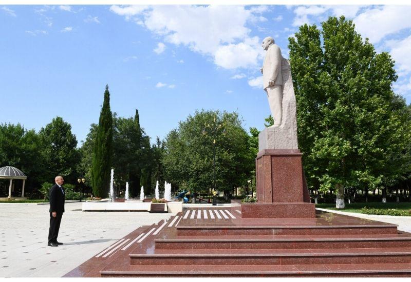 Президент Азербайджана Ильхам Алиев прибыл в Самухский район