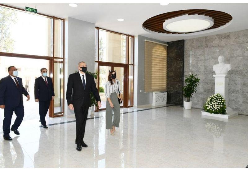 Президент Ильхам Алиев и Первая леди Мехрибан Алиева приняли участие в открытии нового учебного корпуса Азербайджанского государственного аграрного университета