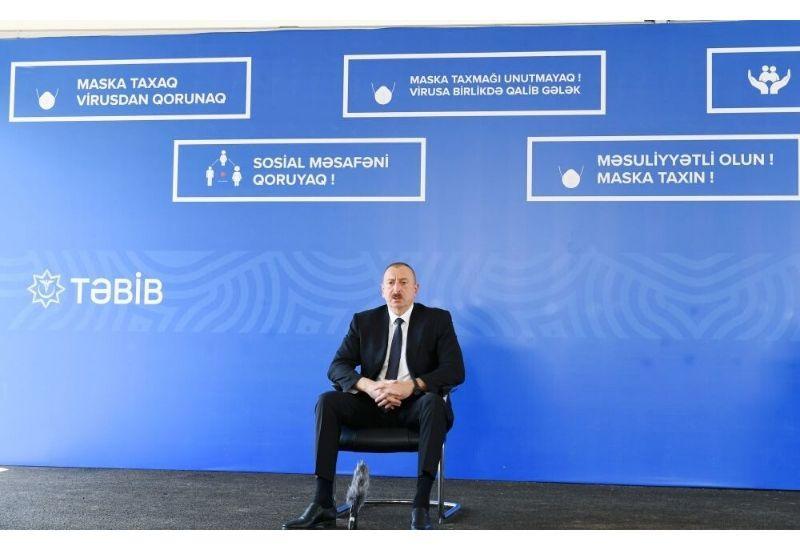 Президент Ильхам Алиев: Независимо от масштабов пандемии коронавируса до конца года уровень жизни людей должен остаться неизменным
