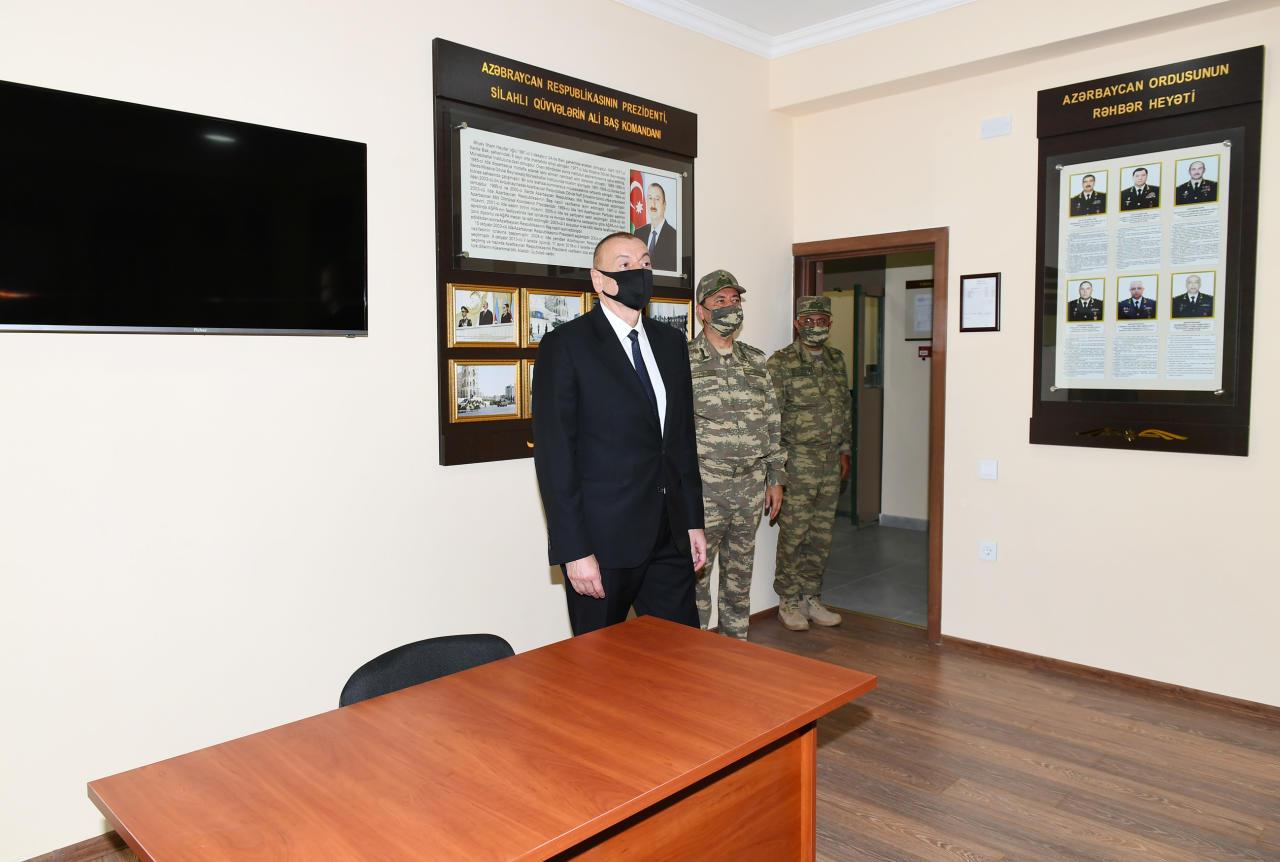 Президент Ильхам Алиев принял участие в открытии N-ской воинской части Министерства обороны