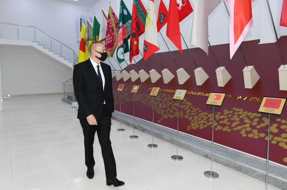 Президент Ильхам Алиев принял участие в открытии Музея государственных символов в Мингячевире