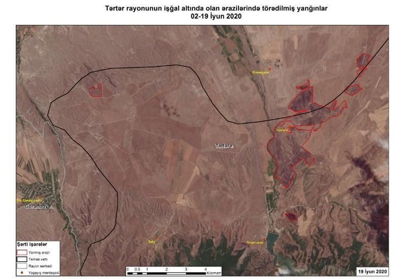 Azərkosmos выявил пожары, совершенные Арменией на оккупированных территориях Азербайджана