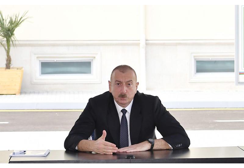 Президент Ильхам Алиев: Ситуация, сложившаяся во фронтовой зоне, еще раз показывают, что Азербайджан обладает стратегическим преимуществом