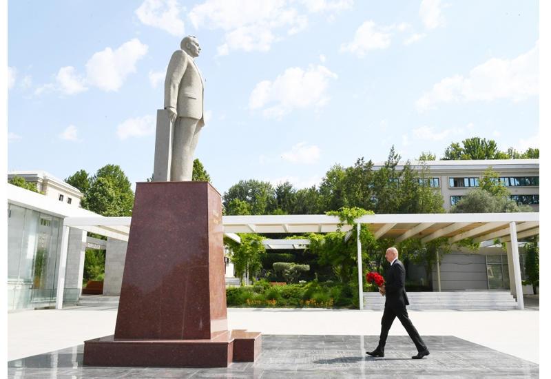 Президент Ильхам Алиев прибыл в Мингячевир